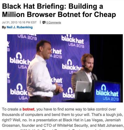 be89e7ec144 Building a Million Browser Botnet for Cheap